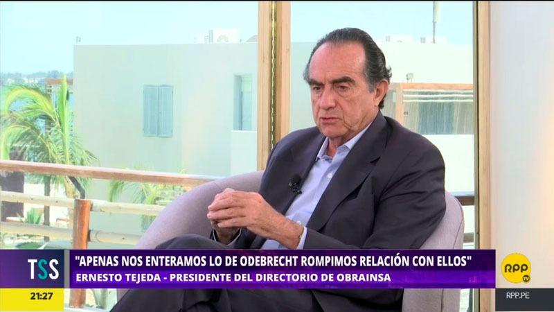 El presidente de Obrainsa aseguró que su empresa asumió la responsabilidad contractual ante el Estado, tras cortar relaciones con Odebrecht.