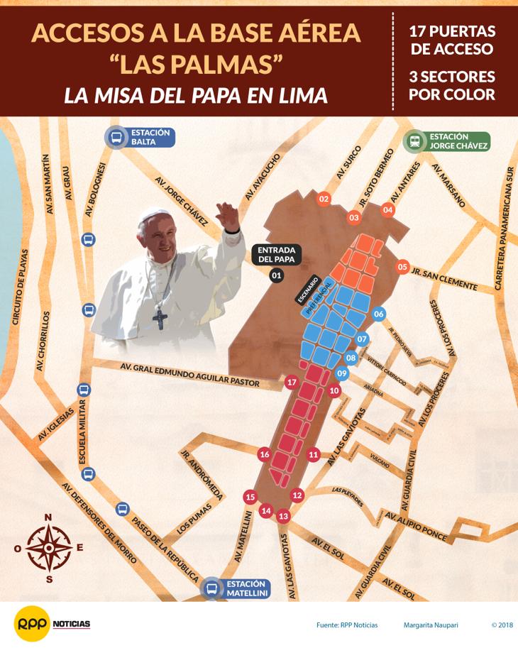 Estas son las entradas para la misa del papa Francisco en Lima.