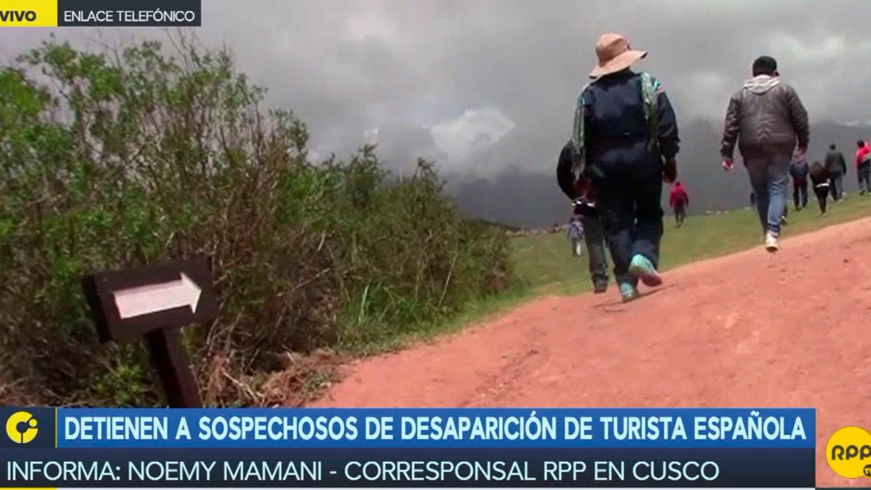 Detienen a sospechosos de desaparición de turista española.