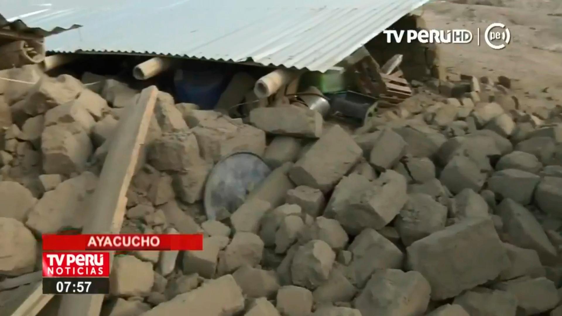 Las familias del centro problado de Relave, distrito de Pullo, provincia de Parinacochas en Ayacucho también sintieron los efectos del sismo.