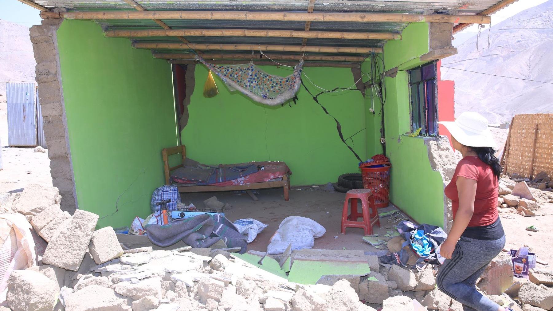 El sismo dejó 63 familias damnificadas.