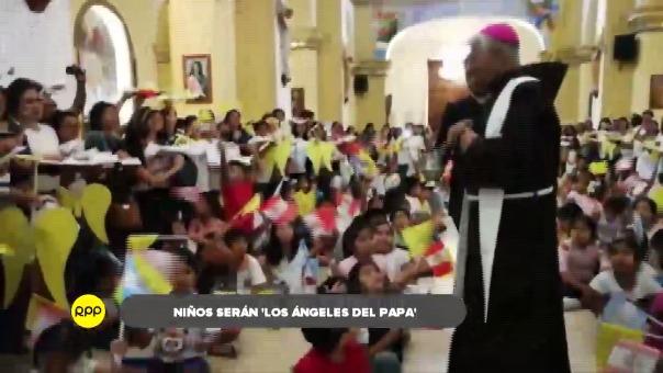 Niños participarán de la misa papal que ofrecerá Francisco en Huanchaco.