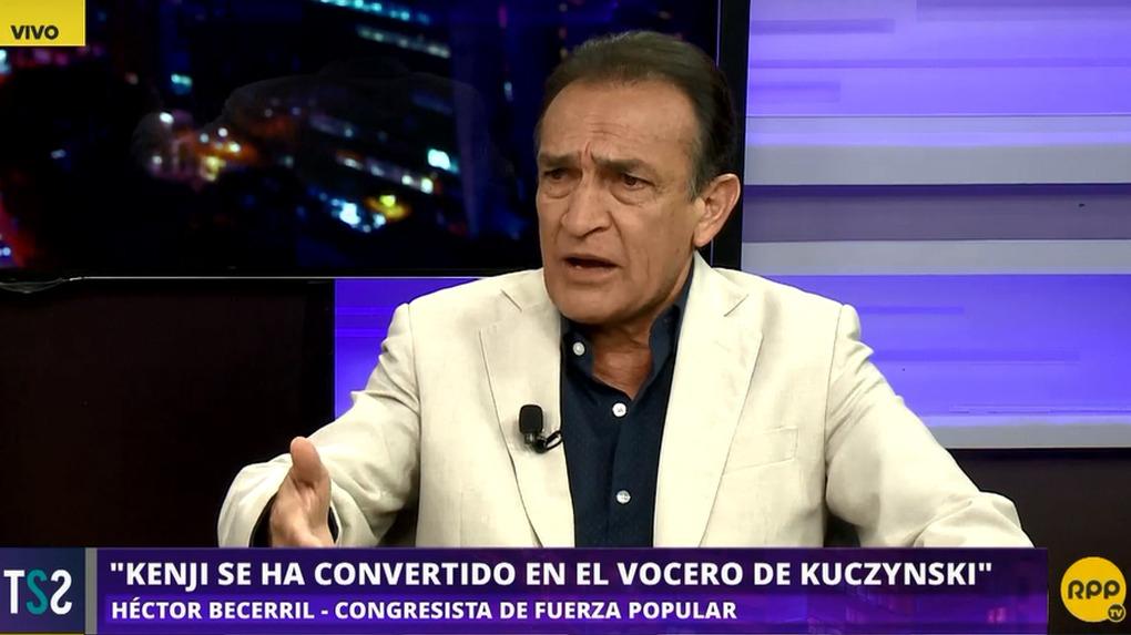 Héctor Becerril es parlamentario por la región de Lambayeque.