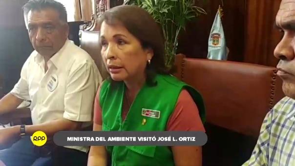 Ministra del Ambiente visitó zonas críticas de José Leonardo Ortiz.