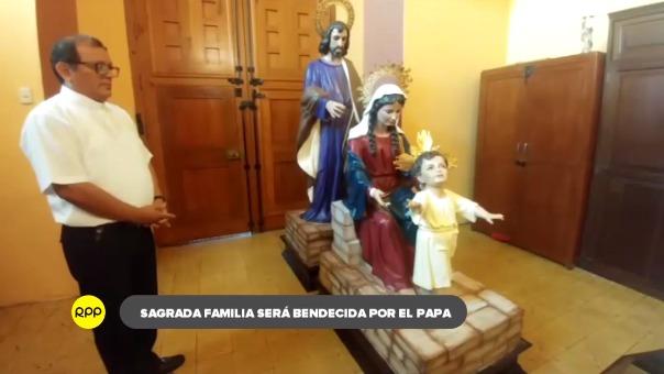 Imagen de la Sagrada Familia está confeccionada en fibra de vidrio