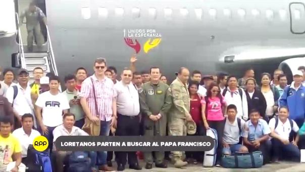Grupo integrado por fieles, sacerdotes y pobladores partieron a Puerto Maldonado con ayuda de la FAP.