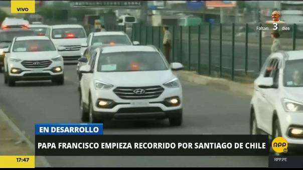 En Chile las calles lucio casi vacías a lo largo de la salida del papa Francisco.