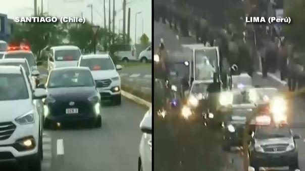 Las diferencias son notables entre las calles de Santiago y Lima, tras el arribo del papa Francisco.