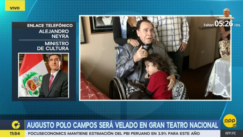 Alejandro Neyra informó que su cartera iniciará las gestiones para que la obra de Augusto Polo Campos se convierta en patrimonio inmaterial del país.