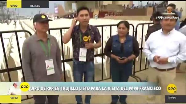 A los enviados especiales se sumaron los corresponsales del norte de nuestro país, quienes demostraron lo que se vive en la playa de Huanchaco.