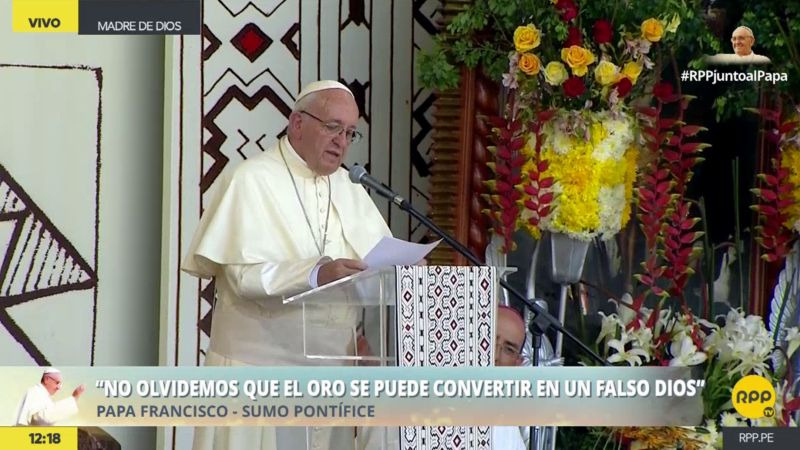 El papa Francisco continúa sus actividades en Puerto Maldonado.
