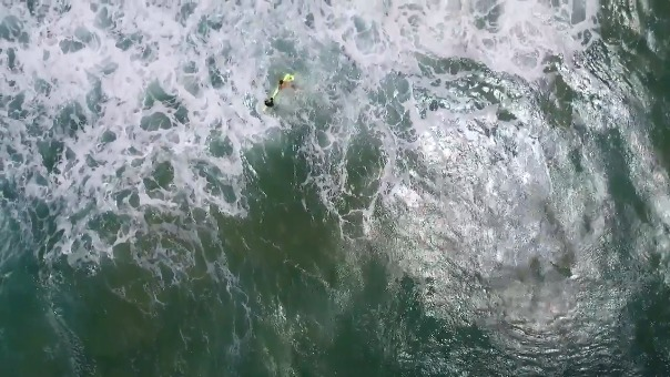 Así fue el rescate gracias a la ayuda de un drone.