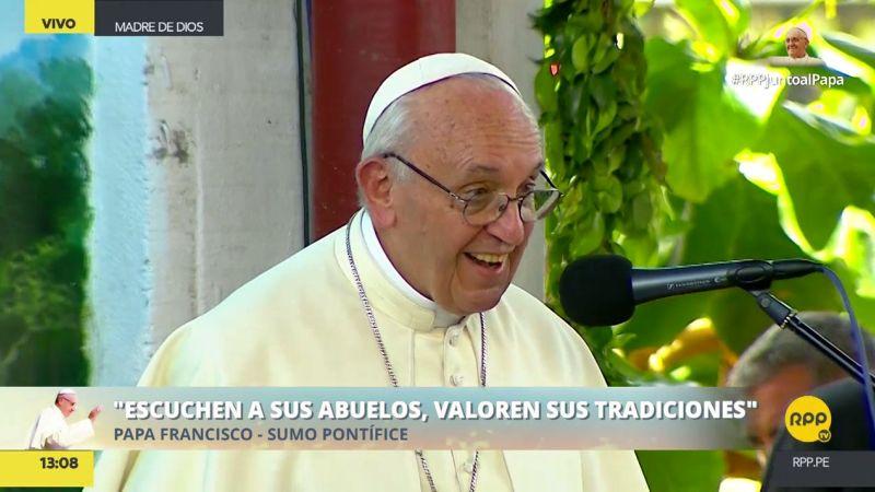 El papa Francisco llevó un mensaje a los jóvenes del Hogar 'El Principito' de Puerto Maldonado.