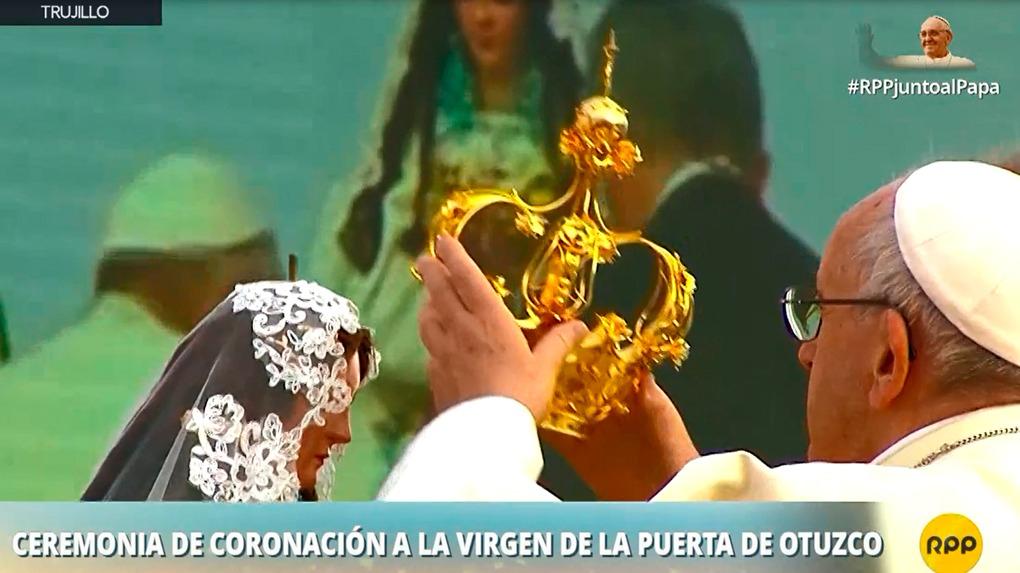 El papa Francisco visitó Trujillo este sábado en su tercer día de actividades en el Perú.