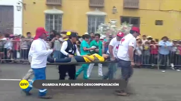 Entre los afectados se encontraba un integrante de la guardia papal.