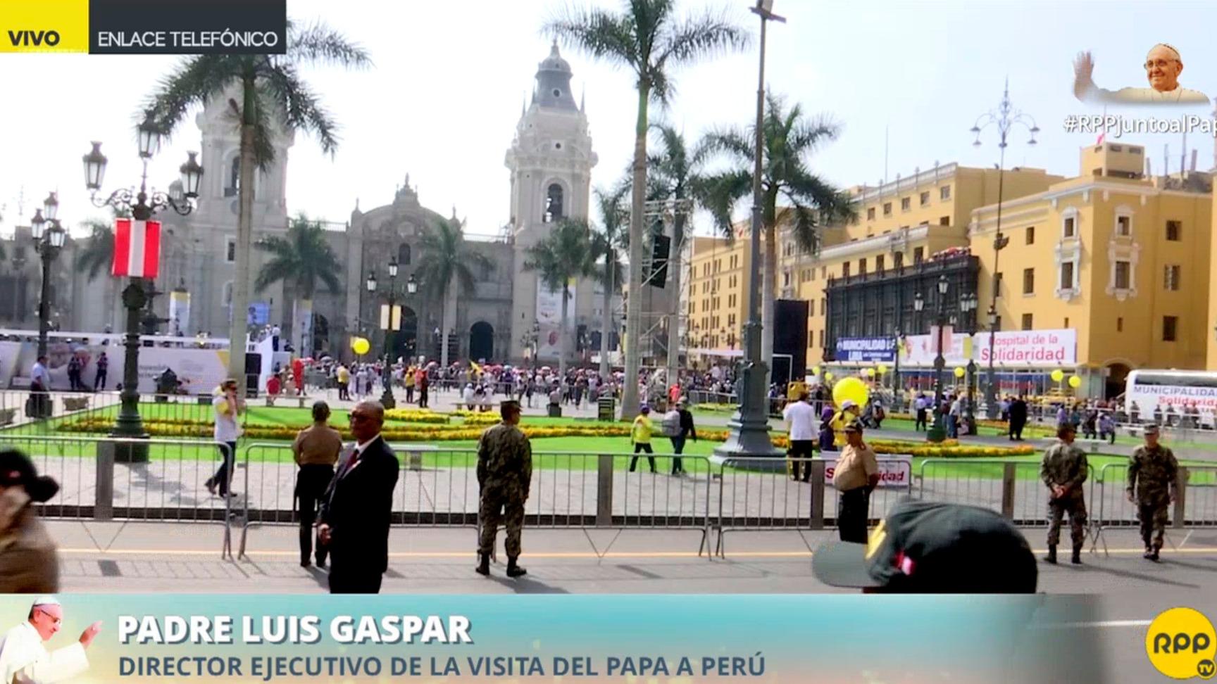 Fuertes cordones de seguridad en la Plaza Mayor
