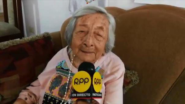 Doña Trinidad contó acercamiento con el papa Francisco.