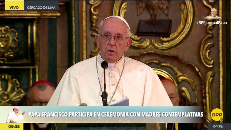 El papa Francisco se reunió con más de 500 monjas de claustro en Las Nazarenas.