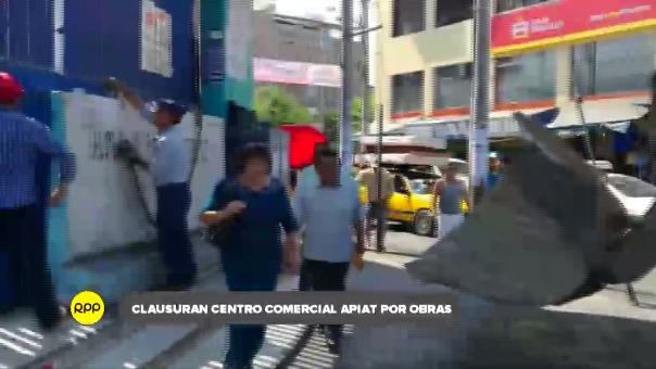 La municipalidad colocó bloques de cemento en las puertas de ingreso al Apiat.