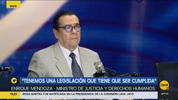 El ministro de Justicia, Enrique Mendoza, en Encendidos.