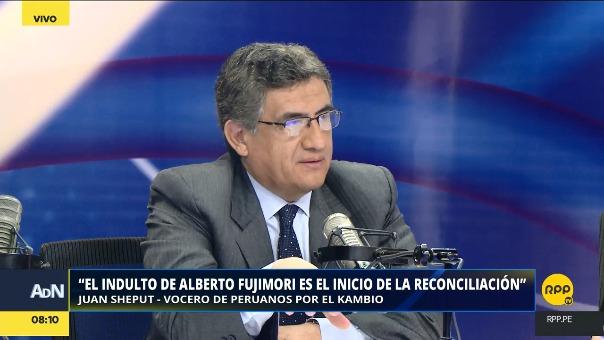 El congresista oficialista Juan Sheput cree que Fujimori irá a juicio pese al derecho de gracia.