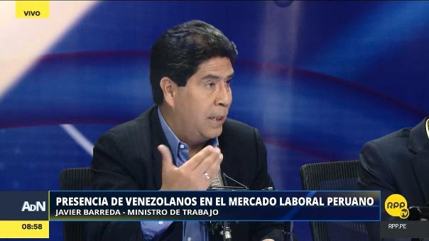 El ministro de Trabajo comentó la situación de los venezolanos que trabajan en el Perú y sus posibles impactos en su sector.