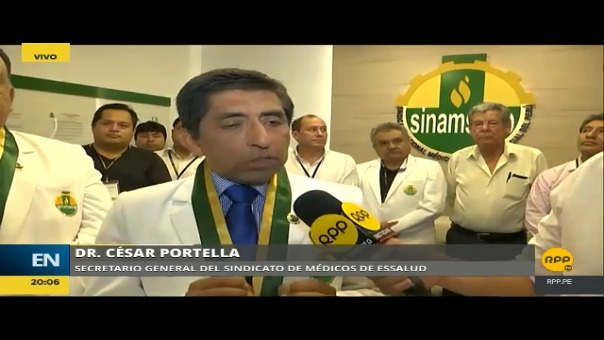Los médicos de EsSalud acordaron parar a nivel nacional en una reunión de delegados realizada este sábado.