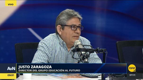 Justo Zaragoza, director de Grupo Educación al Futuro, en RPP Noticias