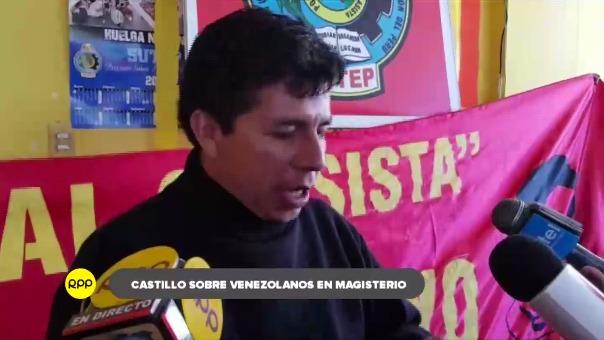 El dirigente arribó a Huancayo para inaugurar un evento de capacitación a docentes promovido por las bases del Sutep.
