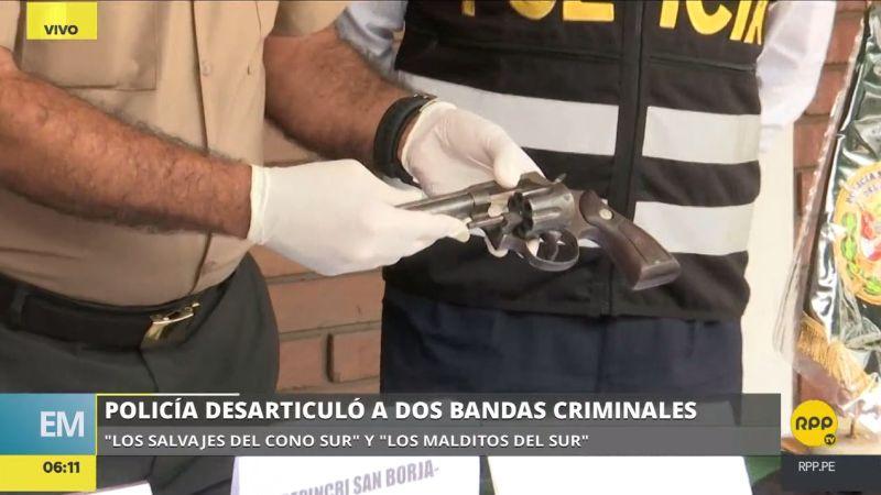 Los detenidos tenían en su poder armas de fuego y droga.