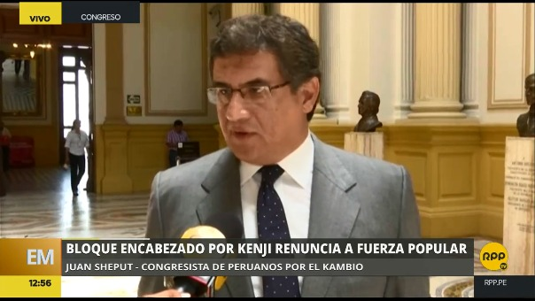 El congresista de Peruanos por el Kambio comentó la renuncia de los congresistas allegados a Keiko Fujimori.