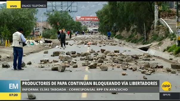 Situación del paro en Ayacucho.