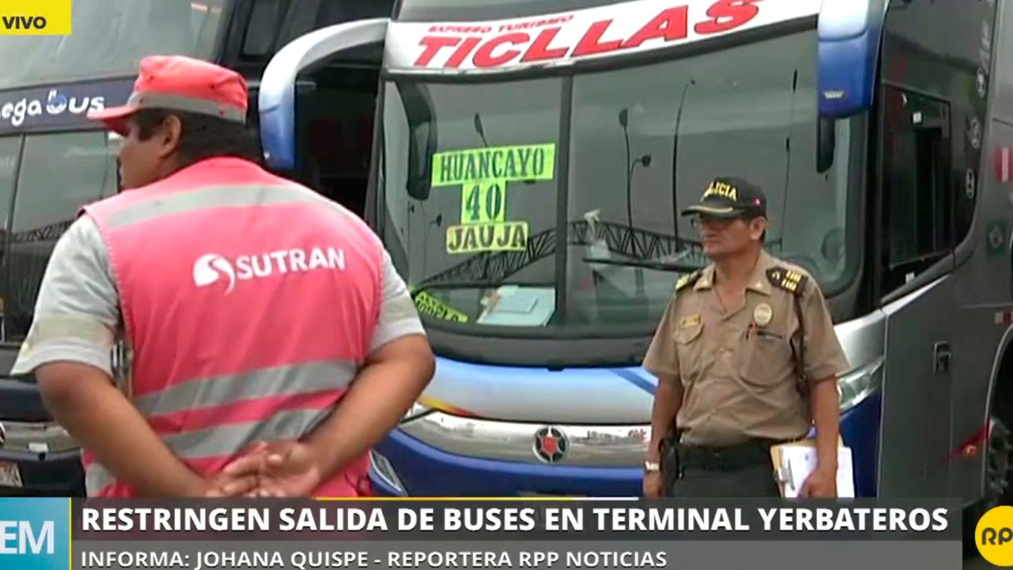 La salida de buses en terminal Yerbateros fue restringida.