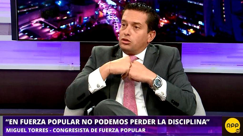 Miguel Torres, vocero alterno de Fuerza Popular