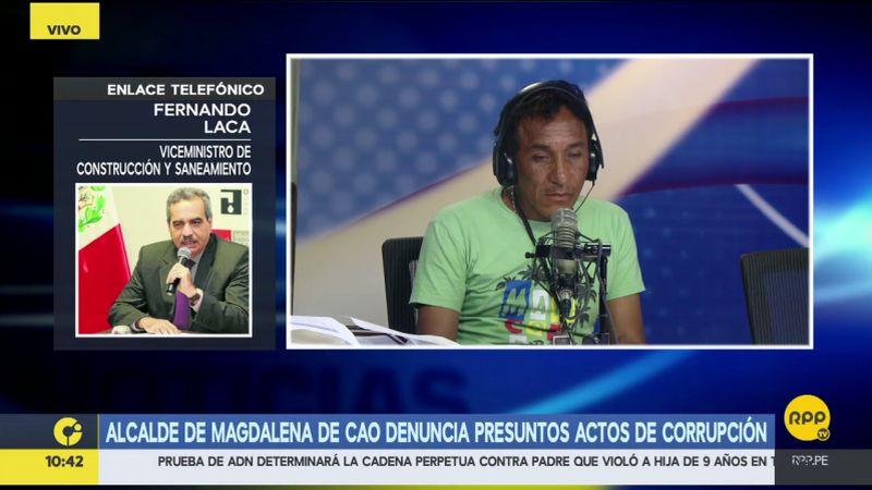 Esta es la respuesta del viceministro Fernando Laca.