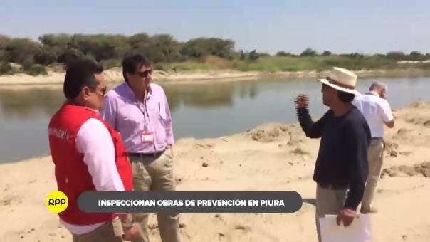 Funcionarios recorrieron provincias de la región donde se realizan obras en los ríos Piura y Chira.