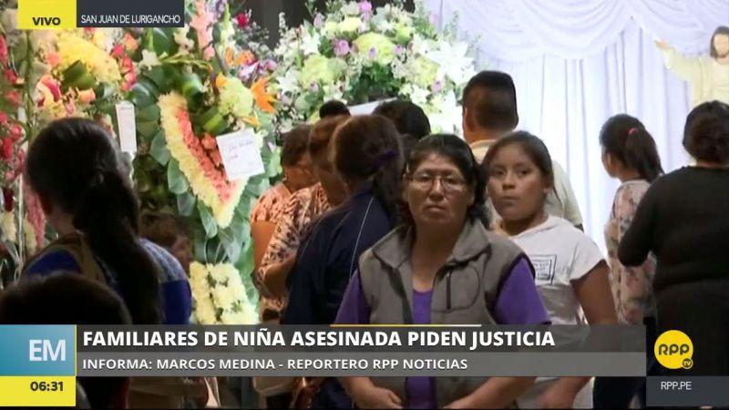 Los restos de la menor hallada calcinada serán enterrados hoy en el cementerio Campo Fe en Huachipa.
