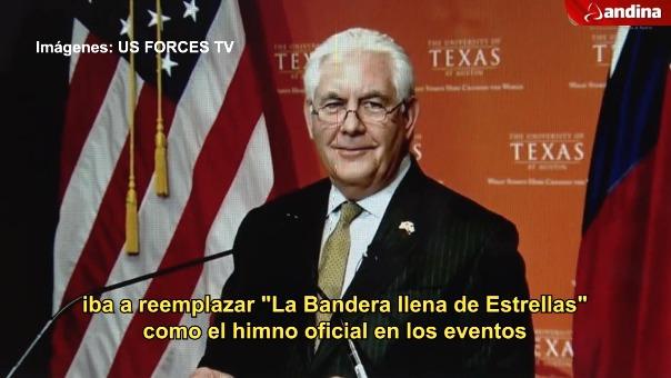 Tillerson recordando su viaje por el Perú.