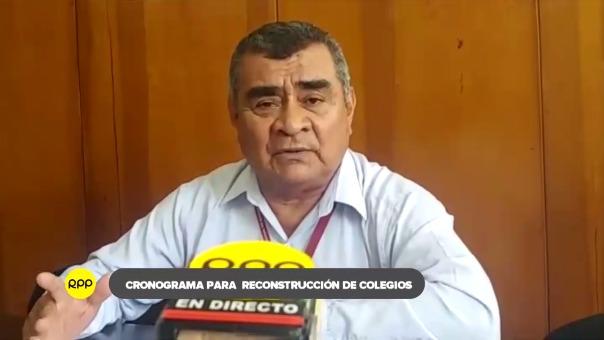 Gerente regional de Educación, Ulises Guevara Paico