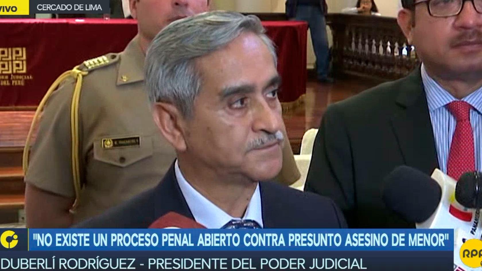 El presidente del Poder Judicial dijo que no apoya la pena de muerte
