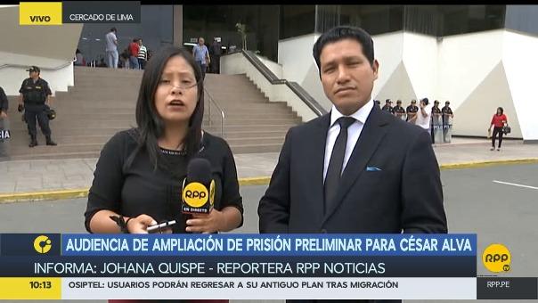 Esta mañana se realizó la audiencia de ampliación de prisión preliminar para César Alva Mendoza