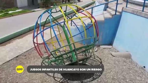 Los juegos mecánicos de diferentes parques de Huancayo son un peligro para los menores debido a su falta de mantenimiento.