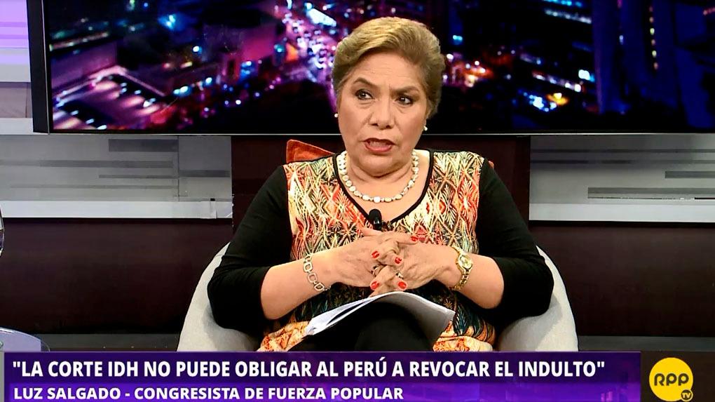 La congresista de Fuerza Popular Luz Salgado habló en el programa 'Todo se Sabe' de RPP.