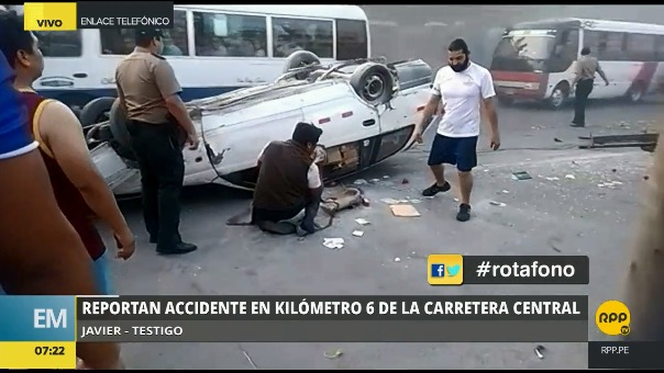 Testigos del accidente se comunicaron con el Rotafono de RPP Noticias.