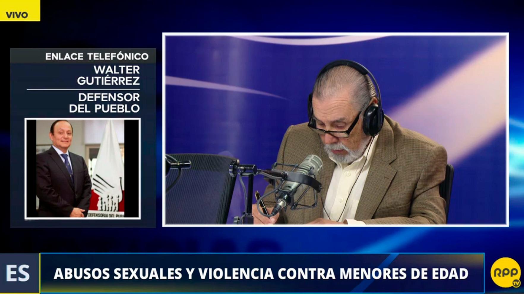 El Defensor del Pueblo dijo que las leyes del Perú no se cumplen.