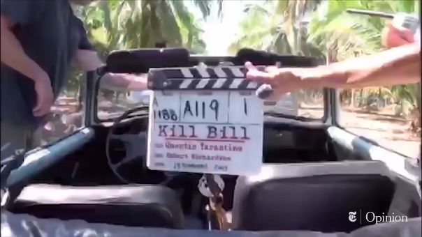 Esta es la escena del accidente de Uma Thurman durante el rodaje de Kill Bill.