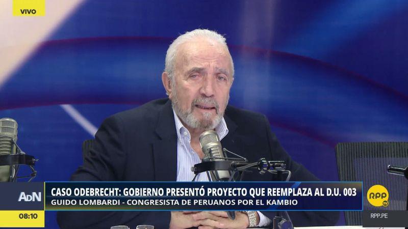 Guido Lombardi estuvo esta mañana en Ampliación de Noticias.