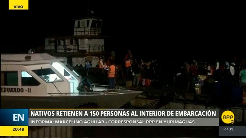 El capitán de la embarcación comentó que los comuneros castigaron con ortigas a tres tripulantes que intentaron pasar el piquet.