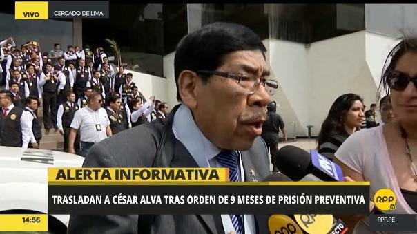 Julio Quintanilla y Marco Riveros, abogados de la familia Vellaneda confirmaron que Alva tuvo una descompensación.