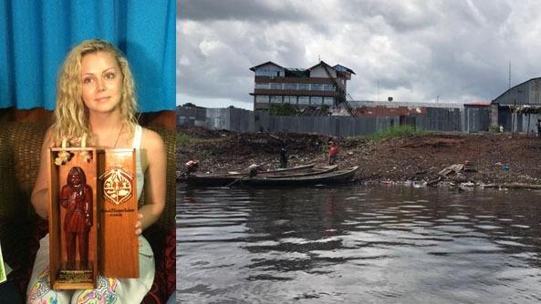 Xena Radnor decidió quedarse en Iquitos para limpiar el río Itaya.